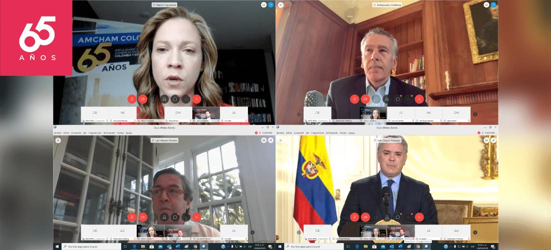 Asamblea virtual de AmCham Colombia 65 años